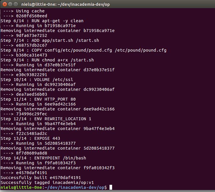 InAcademia development OP Docker instance - GN4-2 JRA3 - GÉANT