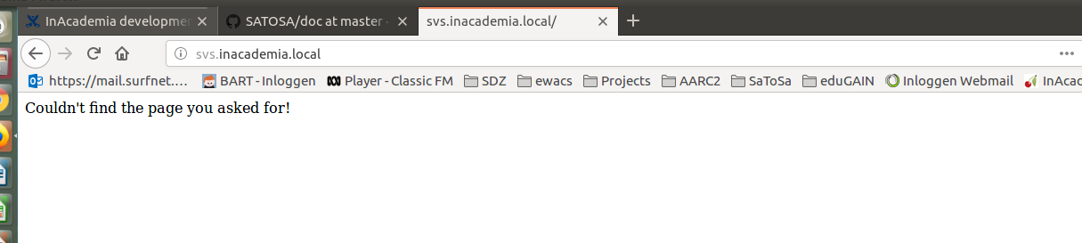 InAcademia development SVS Docker instance - GN4-2 JRA3 - GÉANT