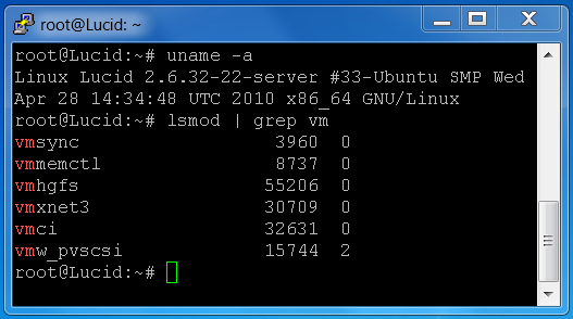 open-vm-tools in Ubuntu Lucid - federated-user-3 - GÉANT