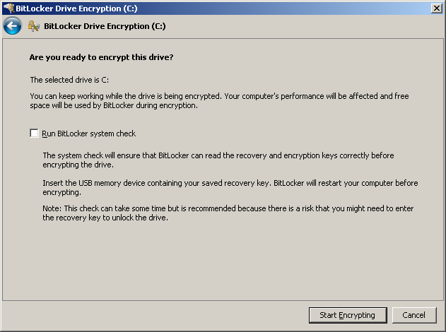 Enabling BitLocker encryption on Dell laptops - federated