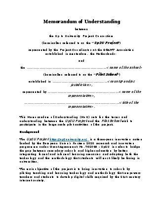 memorandum of understanding up2u gÉant federated confluence